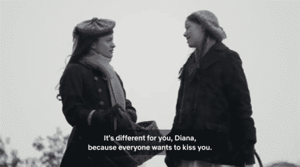 Anne explaining how life is different between her and Diana.