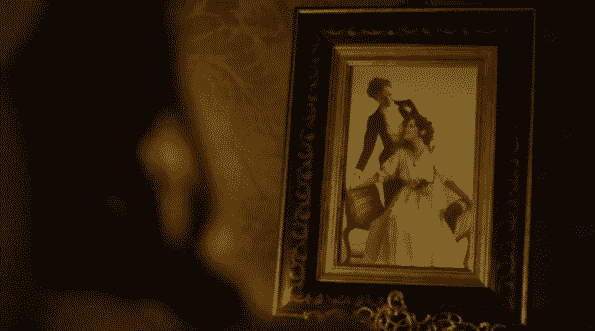 A framed photograph of Gertrude and Josephine.