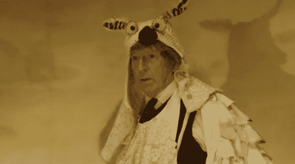 Matthew as an owl ending the Christmas play.