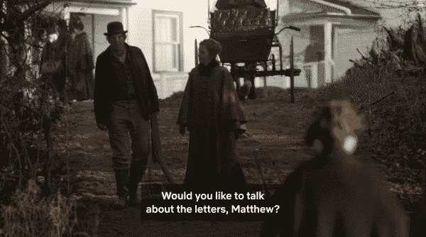 Jeannie asking if Matthew would like to talk about the letters she sent and Anne replied to.