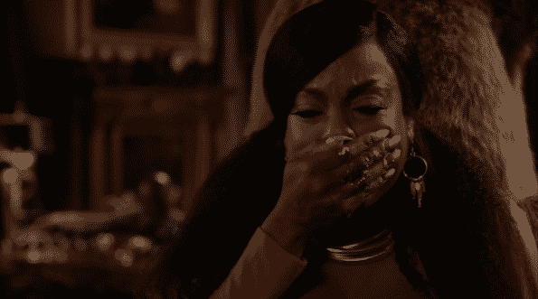 Desna covering her mouth after she learns the truth about Ruval and Zlata.
