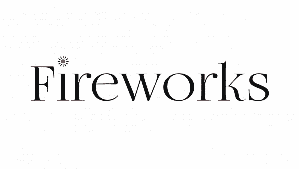 The title card for the anime Fireworks.