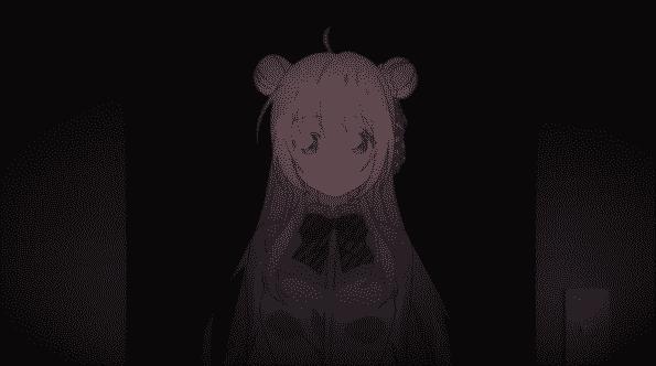 Satou in a dark room.