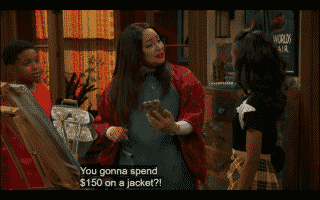 Raven astonished Nia would talk about spending $150 on a jacket.