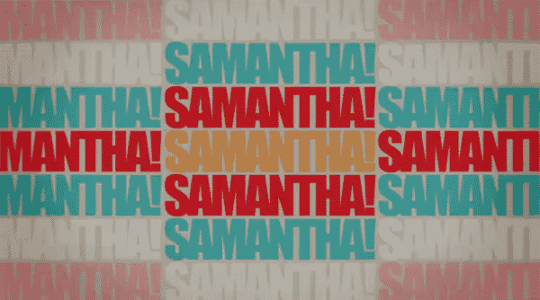 Title card for Netflix's Samantha!