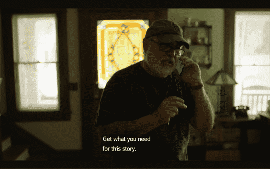 Frank telling Camille to get what she needs for this story, but also for closure.