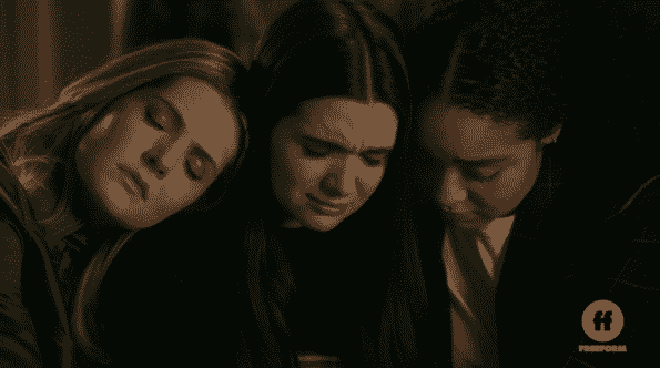 Sutton and Kat consoling Jane.