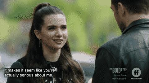 Jane realizing Ryan has feelings.