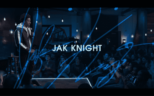 Jak Knight's title card for The Comedy Lineup - Part 1