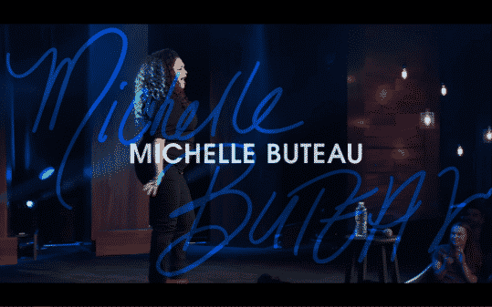 Michelle Buteau's title card for The Comedy Lineup - Part 1