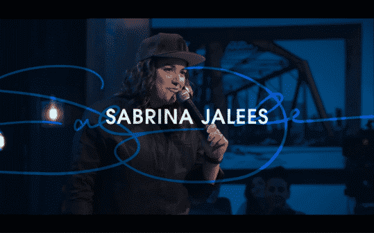 Sabrina Jalees' title card for The Comedy Lineup - Part 1