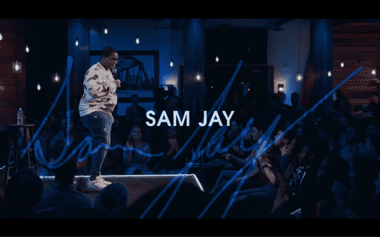Sam Jay's title card for The Comedy Lineup - Part 1