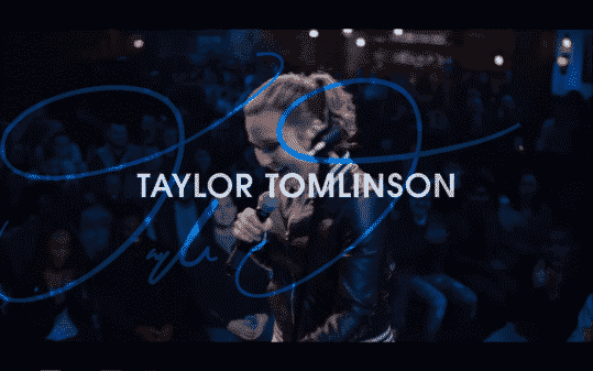 Taylor Tomlinson's title card for The Comedy Lineup - Part 1