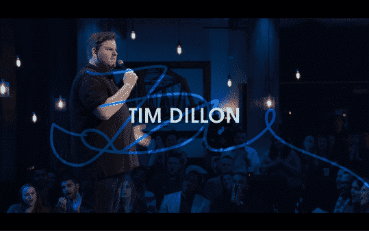 Tim Dillon's title card for The Comedy Lineup - Part 1