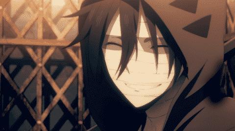 Zack with a genuine, quite happy, smile.