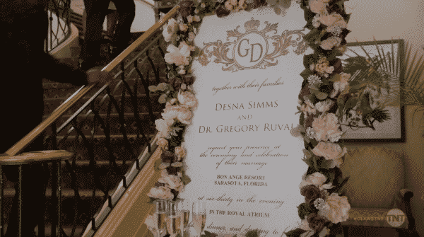 The wedding announcement for Desna and Gregory.