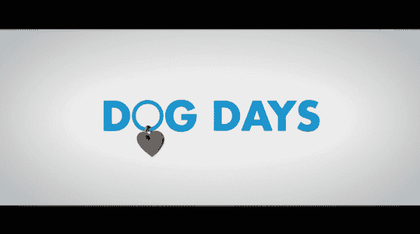 Title card for Dog Days.