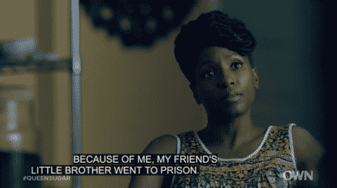 Nova revealing to Micah that she is the reason Too Sweet went to prison.