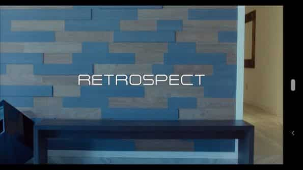 Title card for Retrospect.