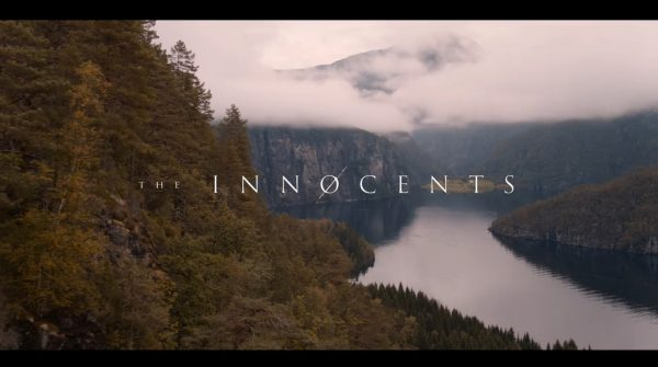 "Picturesque Norway with ""The Innocents"" overlayed."