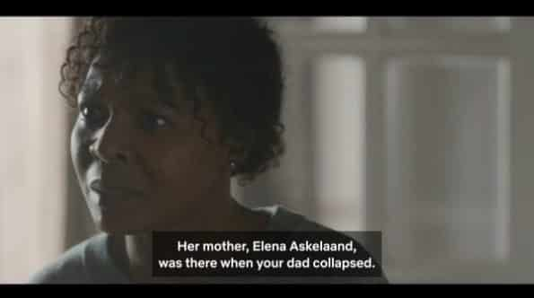 Christine revealing Elena might have caused his father's situation.