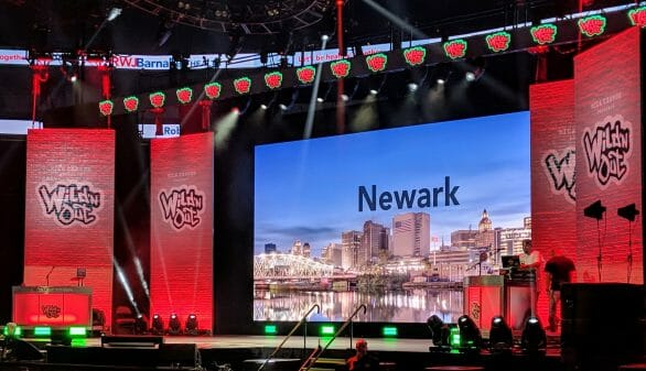 Title card for Wild n' Out when it stopped in Newark.