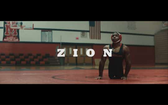 Title card for Netflix documentary Zion.