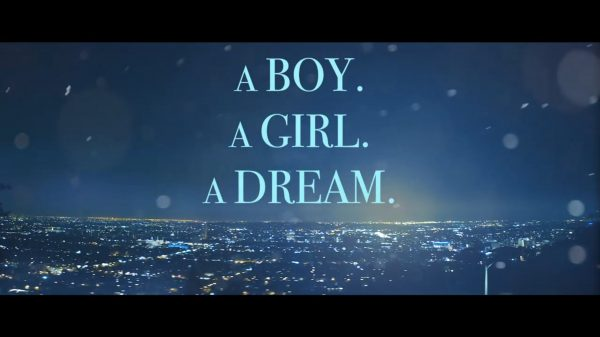 A Boy. A Girl. A Dream. title card.