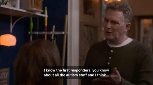 Doug talking with Elsa about starting classes dealing with how to work with people who have autism for emergency personnel.