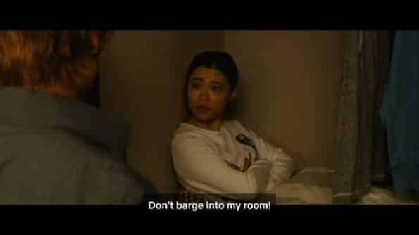 Rukia admonishing Ichigo for barging into her room which is his closet.