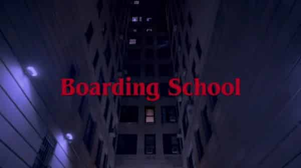 Title card for the movie Boarding School.