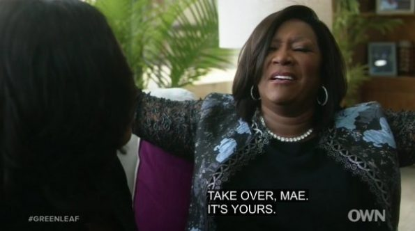 Maxine pushing Mae to just take over Cavalry than start over.