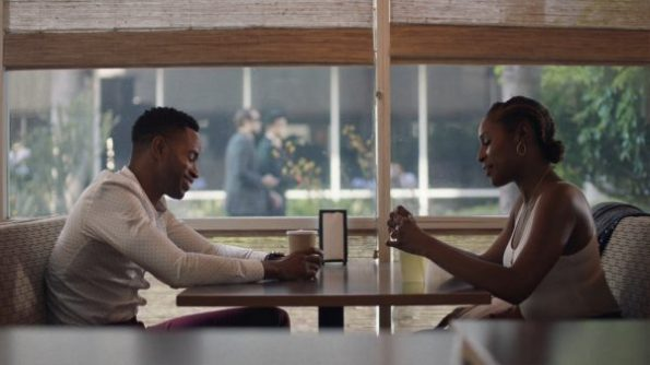 Issa and Lawrence having lunch together.