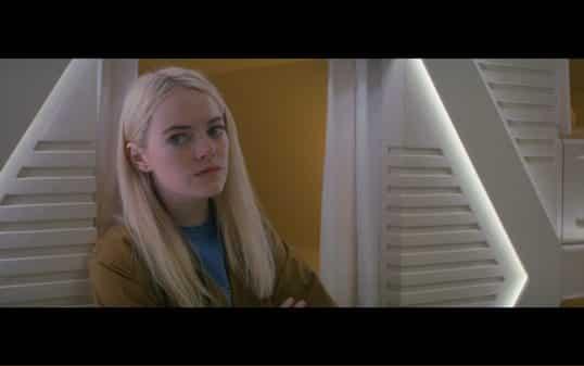Emma Stone as Annie.