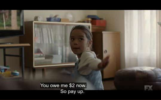 Brittany wanting money from her uncle Bruce for cursing around her.