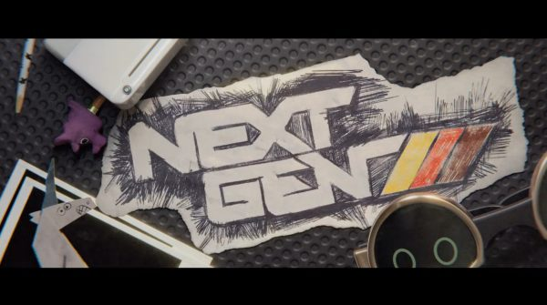 Early movie title card for Next Gen