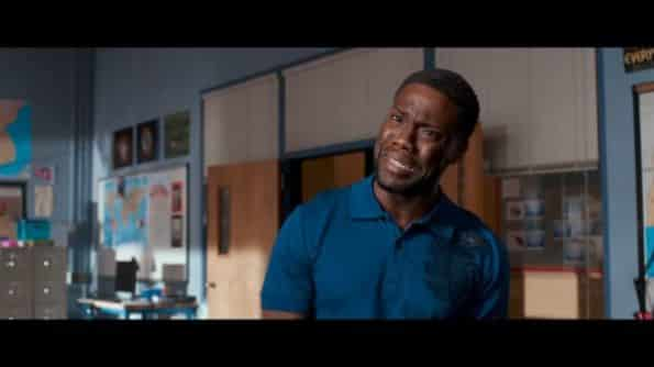 Kevin Hart as Teddy in Night School after he hears his diagnosis..