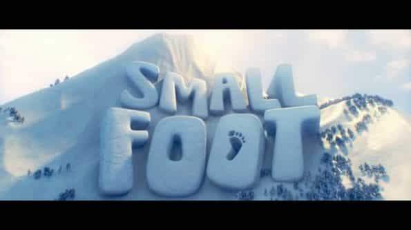 Title card for Smallfoot movie.