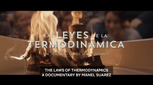 The Laws of Thermodynamics's title card featuring a burning boat.