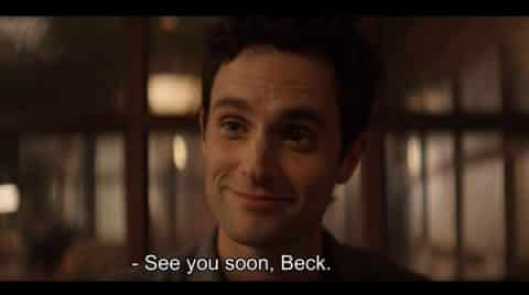 Joe saying goodbye to Beck, for now.