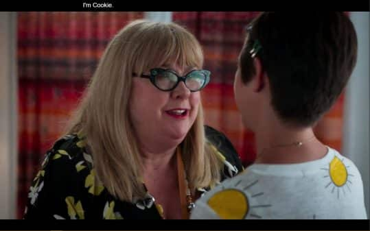 Cookie (Colleen Camp) introducing herself to Andi.