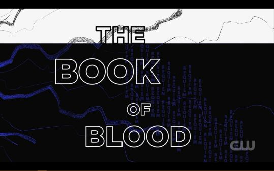Title card for Black Lightning: The Book of Blood