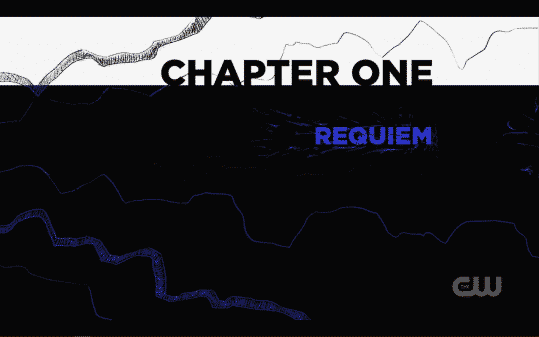 """Title card for Black Lightning: The Book of Blood - Chapter 1 """"Requiem"""""""