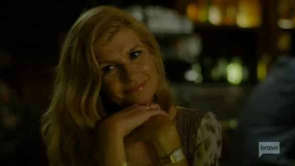 Debra (Connie Britton) on a date.