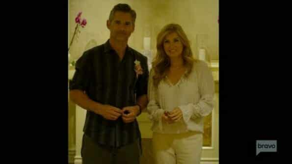 John (Erica Bana) and Debra (Connie Britton) after they got married.