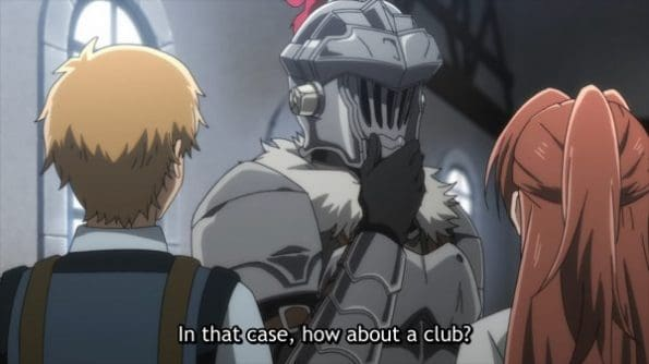Goblin Slayer giving advice.