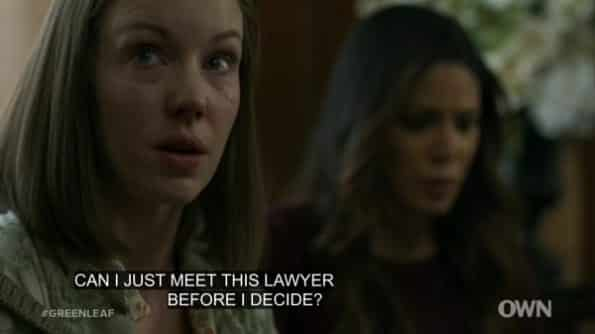 Coralie asking to see the lawyer Grace and Rochele got for her.