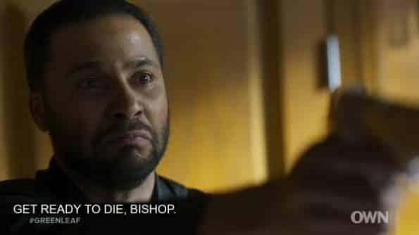 Basie threatening James' life.