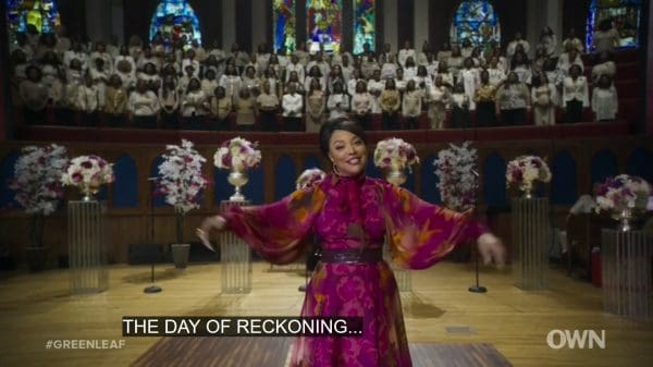 Mae during her sermon.