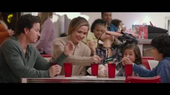 Pete (Mark Wahlberg), Ellie (Rose Byrne), Lizzy (Isabela Moner), Lita (Julianna Gamiz) and Juan (Gustavo Quiroz) enjoying an ice cream Pete (Mark Wahlberg), Ellie (Rose Byrne), Lizzy (Isabela Moner), Lita (Julianna Gamiz) and Juan (Gustavo Quiroz) enjoying an ice cream sundae.sundae.